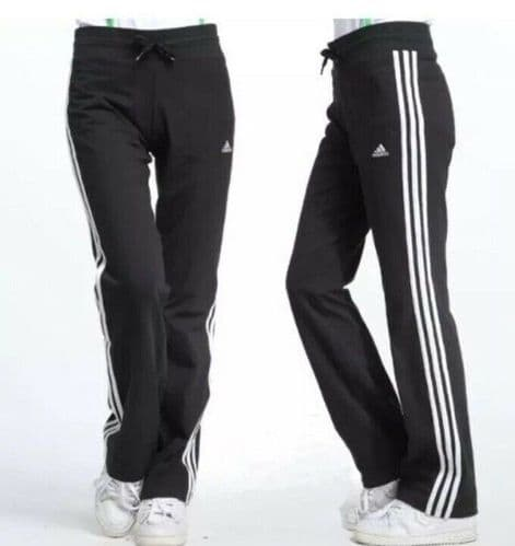 adidas Women's Essential Pants Joggers Bottoms Running Gym Pants Black X21269